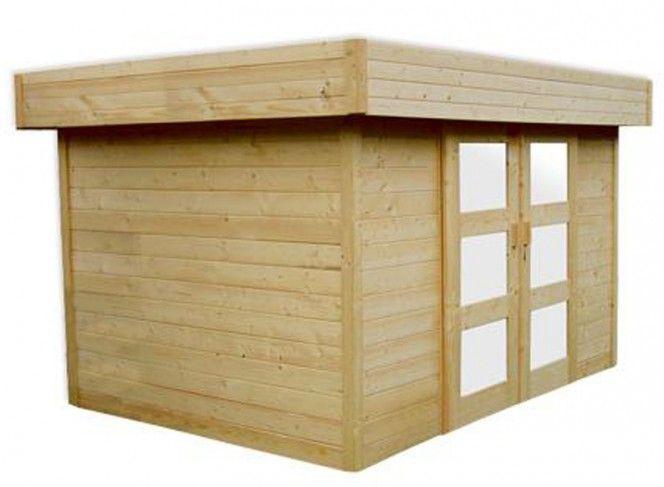 abri de jardin en bois 28 mm porte coulissante