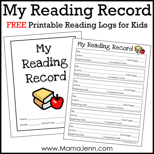 Reading Logs Printable. free re reading log for building