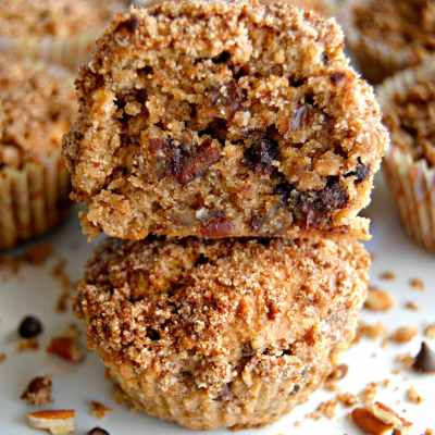 Paleo Chocolate Chip Pecan Pie Muffins {Gluten-Free, Dairy-Free, No Refined Sugar}
