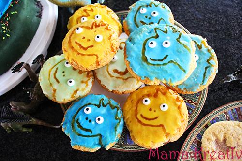 dino muffins selber machen dinosaurier geburtstag