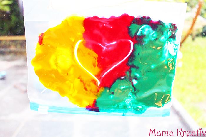 Malen ohne sauerei im Ziploc beutel