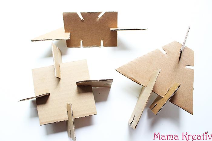 Basteln bauen aus pappe mit kindern kindergarten