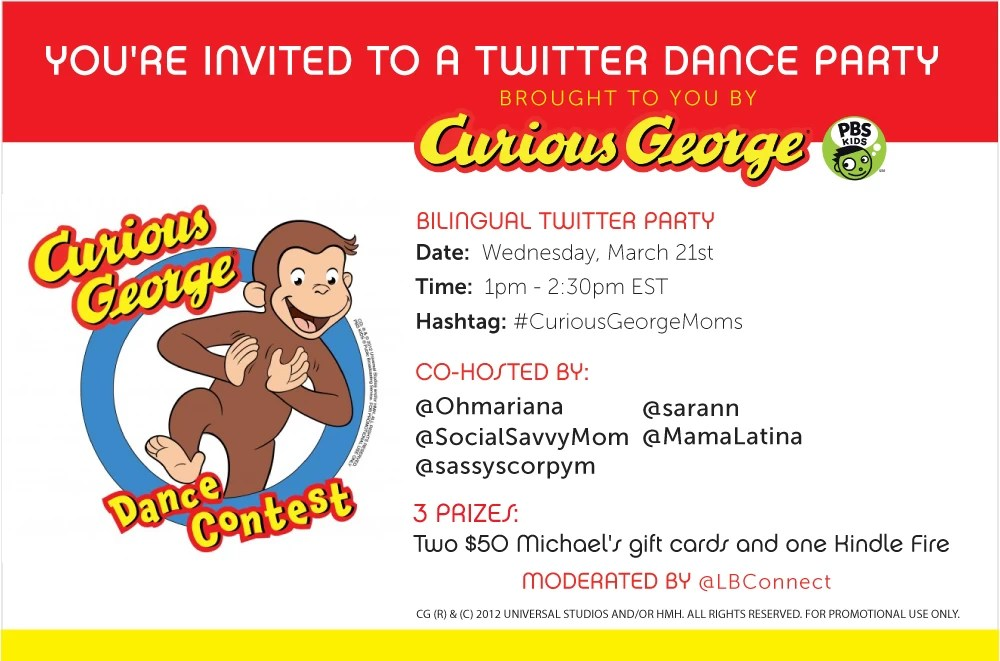 Curious George Twitter Dance Party