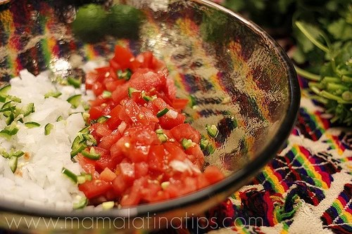 Mexican tuna salad step 1
