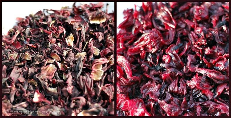 comparación entre flor de jamaica seca y jamaica cocida