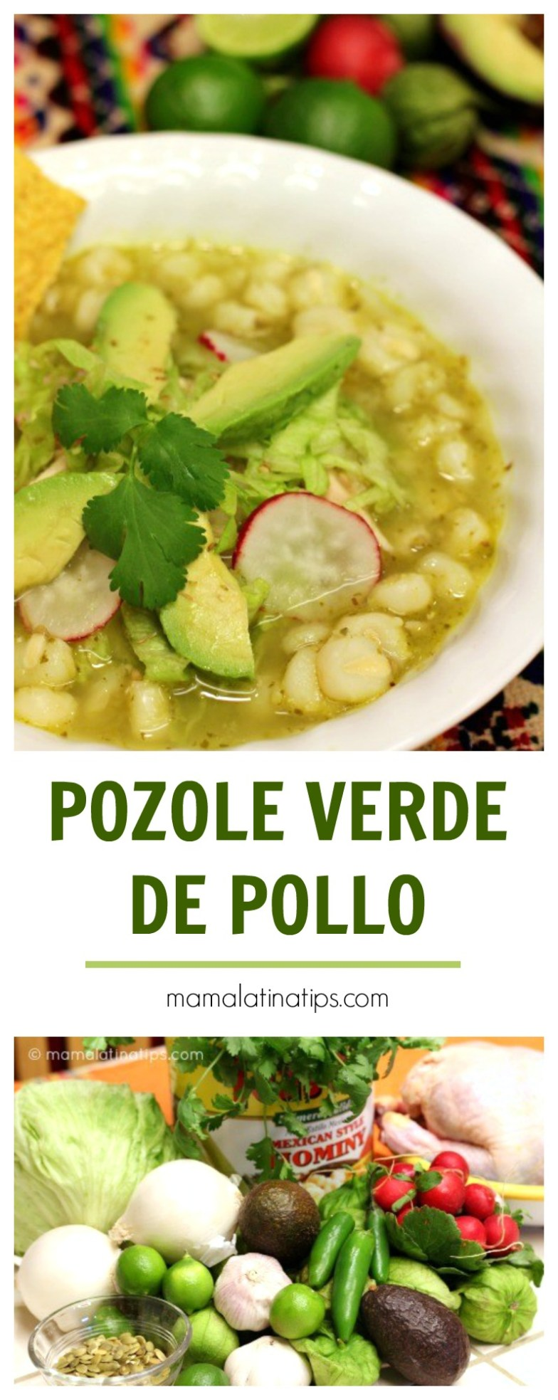 Receta de pozole verde de pollo mama latina tips - Como se hace pollo en salsa ...