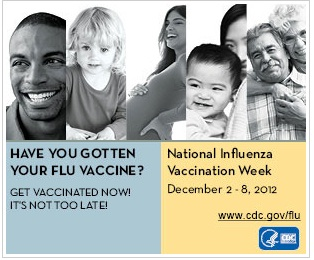National Influenza Vaccine Week Dec 2-8, 2012