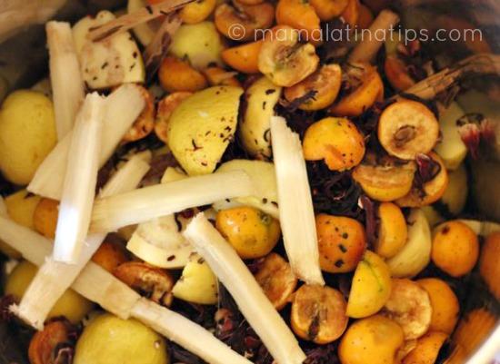 fruta para ponche