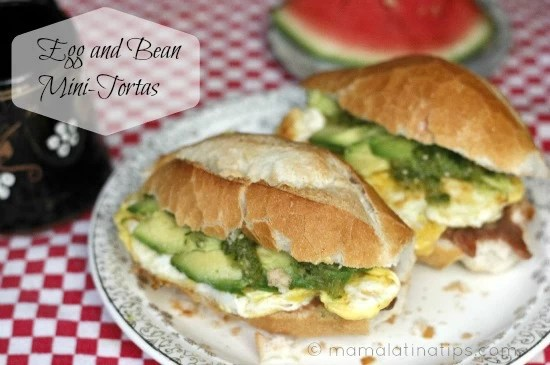 Egg and bean mini-torta