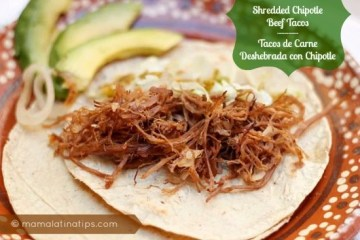 Shredded Chipotle Beef Tacos