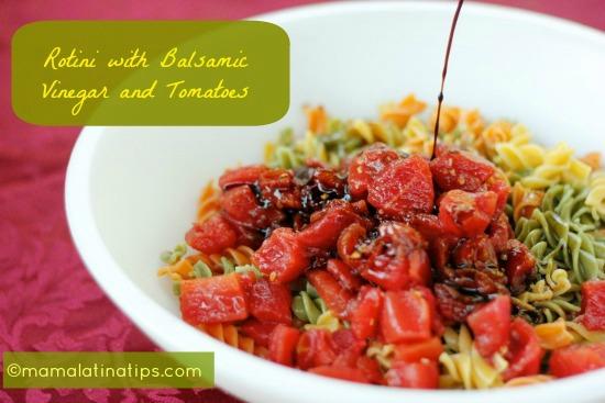 Rotini with tomatoes