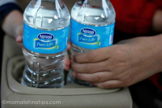 agua en el coche mamalatinatips