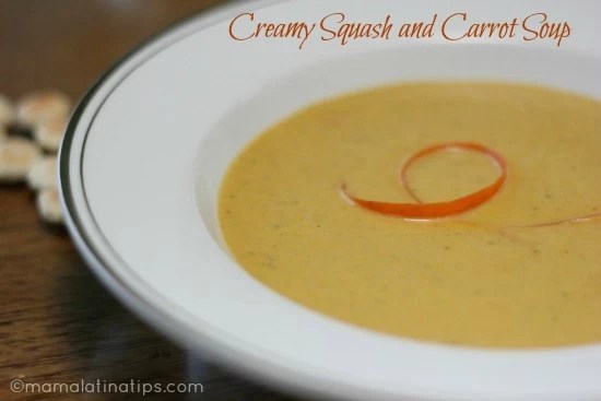 Creamy Squash and Carrot Soup