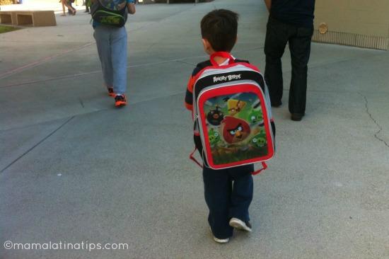 kid walking to school