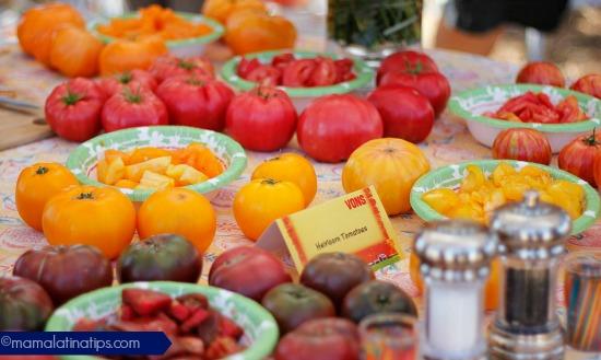 heirloom tomatoes tasting