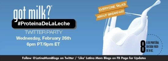 #Proteinadelaleche Twitter Party