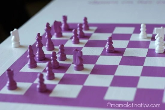 Pink chess pieces - mamalatinatips.com