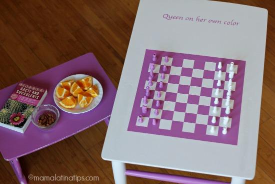Pink chessboard - mamalatinatips