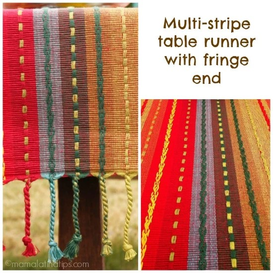 Multi Stripe Table Runner from Pier1 - mamalatinatips.com