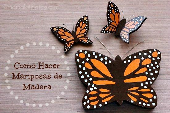 Como hacer mariposas de madera - mamalatinatips.com
