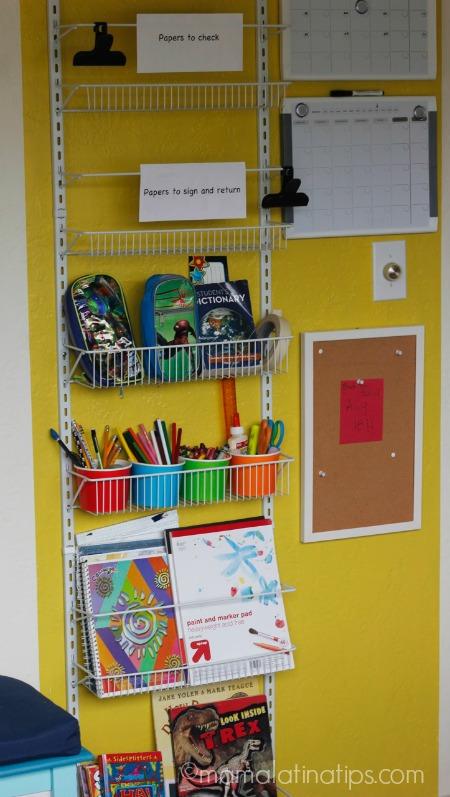 back-to-school organization center