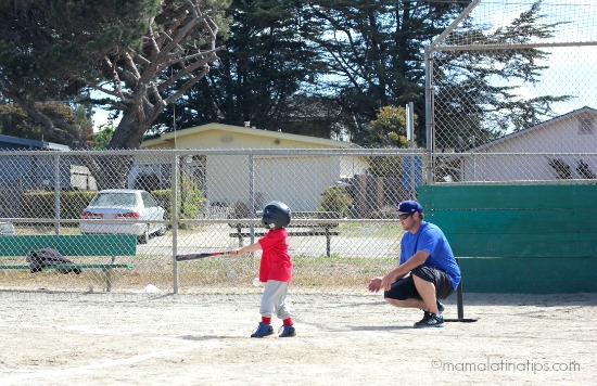 kid playing baseball