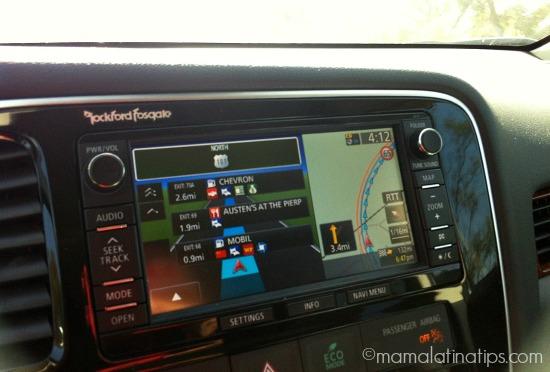 Mitsubishi Outlander GT GPS system