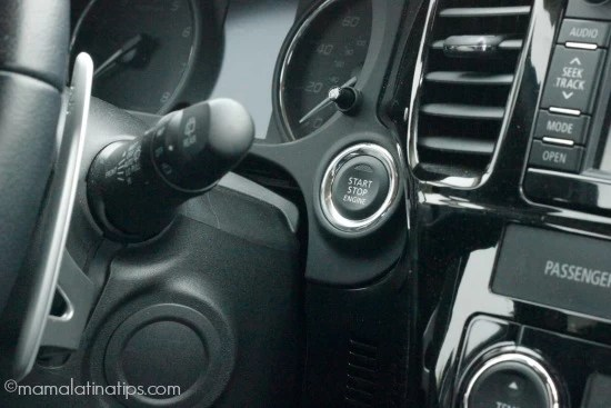 Mitsubishi Outlander GT ignition button