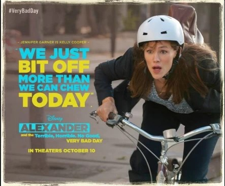 Jennifer Garner is Kelly Cooper in Alexander and the Terrible, Horrible, No Good, Very Bad Day