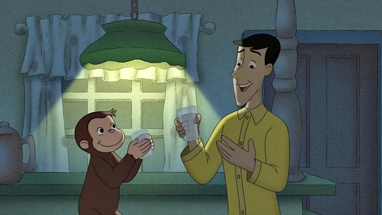 "Curious George on ""Monkey Goes Batty"" episode"
