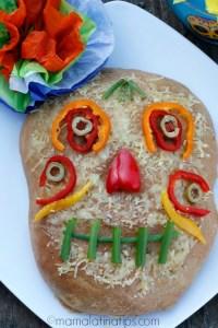Día de Muertos Focaccia Style Bread