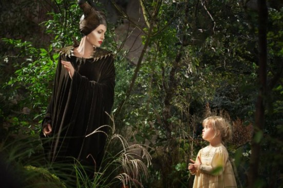 Angelina Jolie and Vivienne Jolie-Pit in Maleficent