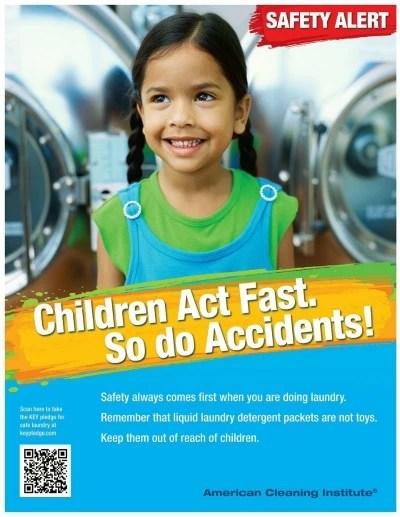 Children act fast. So do Accidents - ACI poster