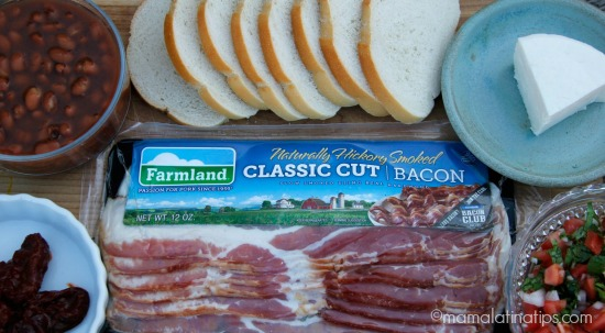 Bacon and bean crostinis - ingredients