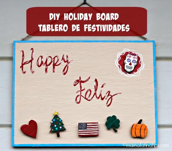 DIY Holiday Board - Tablero de Festividades
