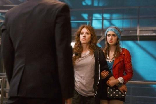 Leigh-Allyn Baker and Laura Marano as Liz and Monica