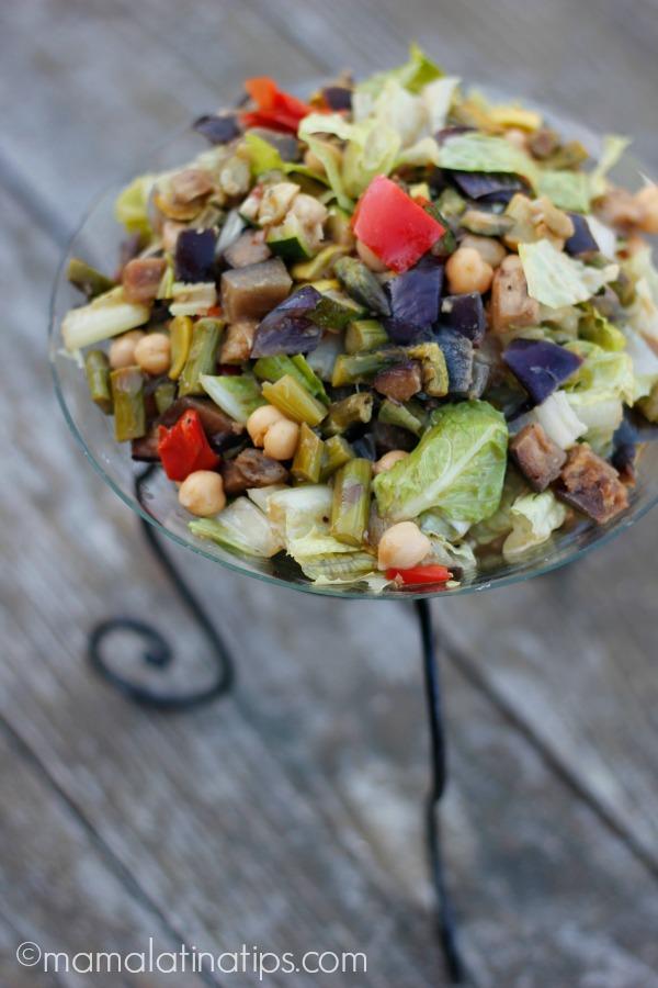 Eggplant-Garbanzo Salad