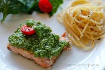 Baked Salmon with Pesto – Recipe