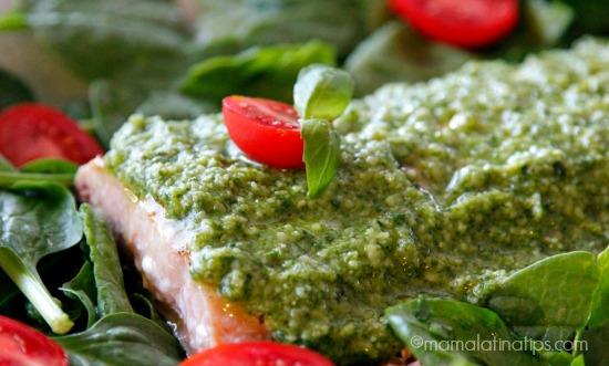 salmon with pesto (whole) by mamalatinatips.com