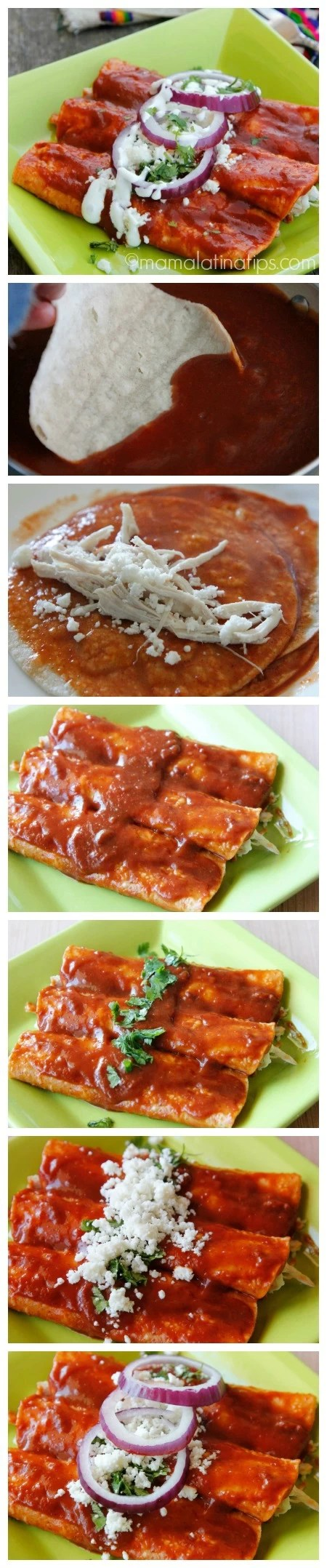 Chipotle enchiladas step by step - mamalatinatips.com