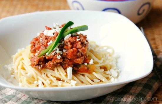 Easy Chipotle Spaghetti with Ground Beef and Cotija Cheese ...