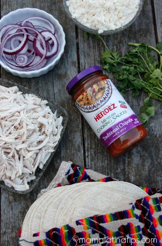 Enchiladas de chipotle - ingredientes- mamalatinatips.com
