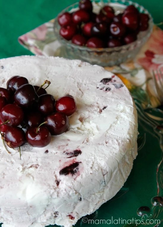 Cherry Vanilla-3 leches ice cream cake by mamalatinatips.com