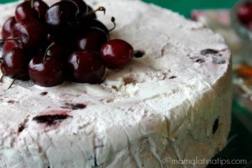 Inside-Out Cherry Vanilla Tres Leches Ice Cream Cake