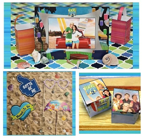 Photo props and activities - teen beach inspired party - mamalatinatips.com