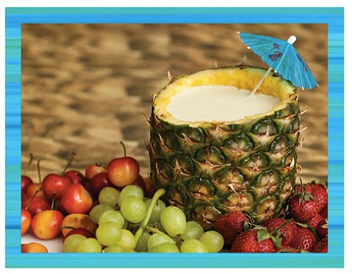Orange-Pineapple yogurt dip - teen beach inspired party - mamalatinatips.com