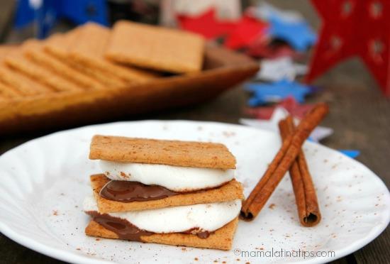cinnamon-chipotle smore's by mamalatinatips.com