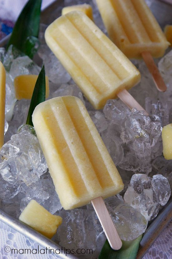 Pineapple-ginger popsicles
