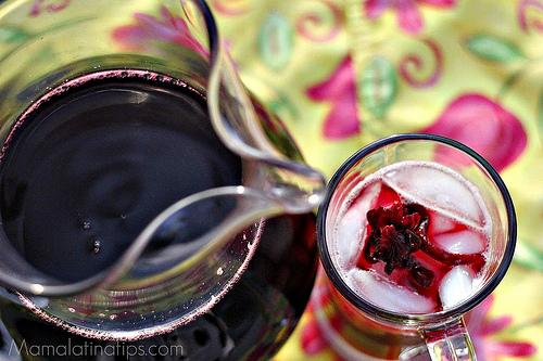 Agua de jamaica, hibiscus flower drink