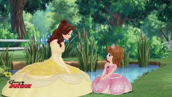 Sofia the First and Belle